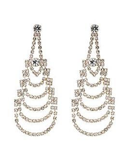 Mood crystal chandelier earring