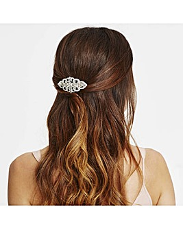 Mood ornate crystal hair clip