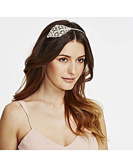 Mood ornate crystal side headband