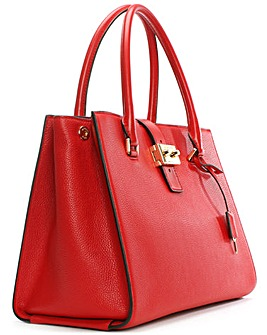 Michael Kors Red Leather Satchel Bag