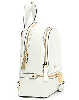 Michael Kors White Double Zip Backpack