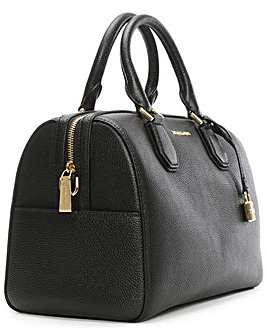 Michael Kors Black Leather Duffle Bag