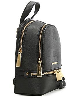 Michael Kors Leather Double Zip Backpack