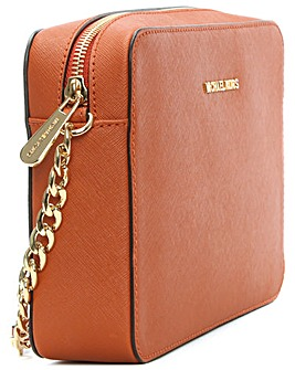 Michael Kors Orange Leather Crossbody