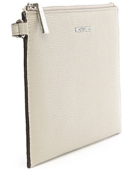 Michael Kors Cement Leather Clutch Bag