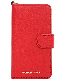 Michael Kors Red Leather iPhone 7 Case