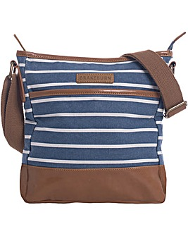 Brakeburn Stripe Canvas Cross Body