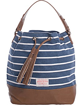Brakeburn Stripe Canvas Bucket Bag