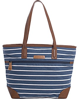 Brakeburn Stripe Canvas Tote Bag