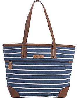 Brakeburn Stripe Canvas Tote Bag
