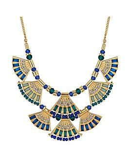 Mood fan collar necklace