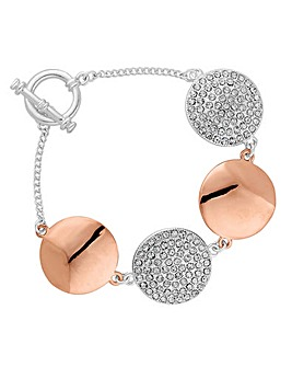 Jon Richard pave disc bracelet