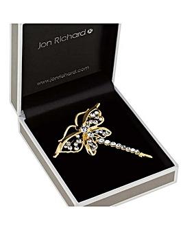 Jon Richard gold dragonfly brooch