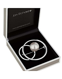 Jon Richard interlinked circle brooch