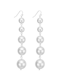 Mood oversized pearl drop earring