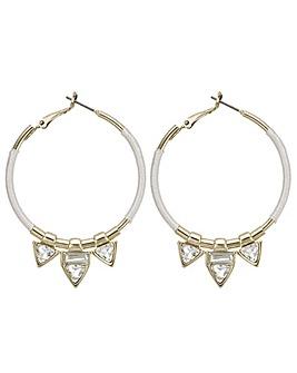 Mood triangle charm hoop earring