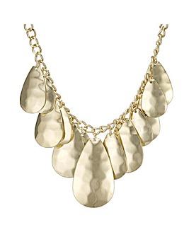 Mood layered teardrop necklace