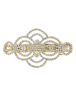 Mood gold diamante swirl hair clip