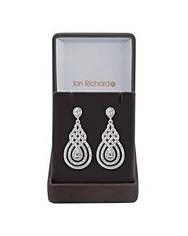 Jon Richard peardrop swirl earring