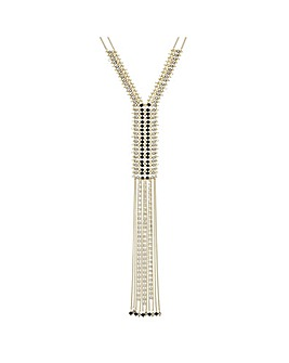 Mood beaded tassel ladder necklace
