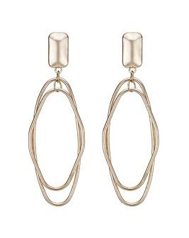 Mood double oval drop earring