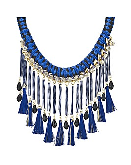 Mood fringed statement necklace