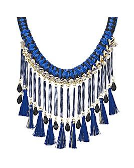 Mood fringed statement necklace