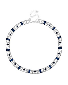 Jon Richard crystal cut out necklace