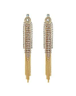Jon Richard diamante tassel earring