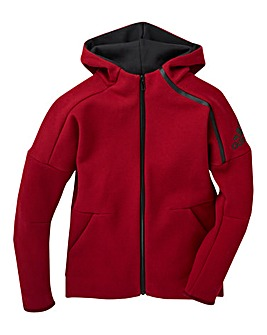 adidas Youth Girls Zone Full Zip Hoodie