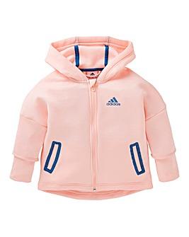 adidas Young Girls Full Zip Hoodie