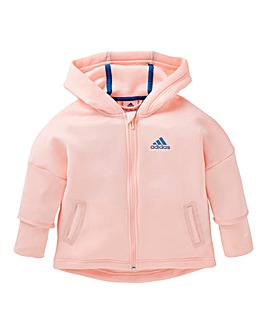 adidas Young Girls Full Zip Hoodie