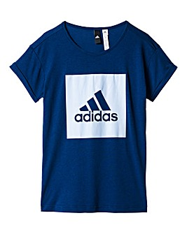 adidas Youth Girls Logo Loose T-Shirt