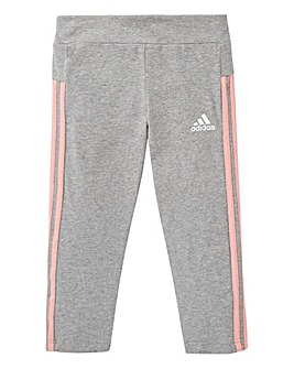 adidas Youth Girls 3 Stripe 3/4 Tights