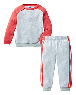 adidas Girls Crew Sweat And Joggers Set