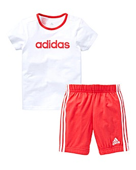 adidas Girls Infant Tee And Shorts Set