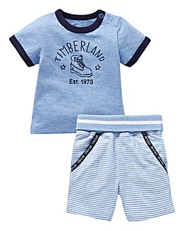 Timberland Baby T Shirt and Short Set
