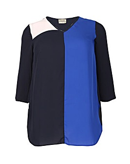 emily Chiffon Colour Block Top