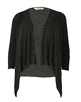 emily Brushed Knit Waterfall Cardigan