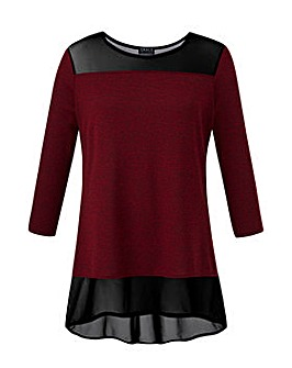 Grace Made in Britain mesh trim tunic