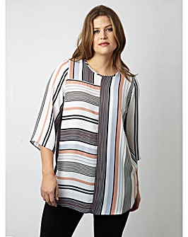 Lovedrobe GB Colour Block Stripe Blouse