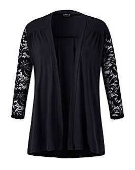 Grace lace sleeve cardigan