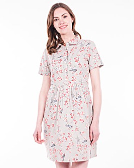 Brakeburn Bird Blossom Shirt Dress