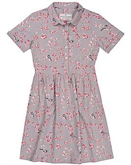 Brakeburn Bird Blossom Shirt Dress