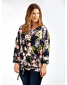 Koko Cold Shoulder Floral Print Blouse