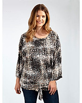 Koko Cold Shoulder Abstract Print Blouse