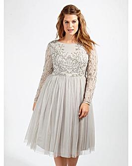 Lovedrobe Luxe Embellished Skater Dress
