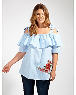 Lovedrobe GB Blue Gingham Blouse