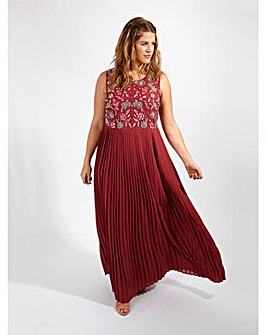 Lovedrobe Luxe Pleated Maxi Dress