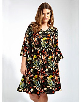 Lovedrobe GB Black Floral Print Dress